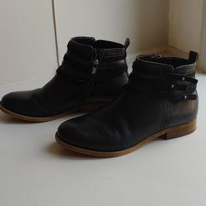 Franco Sarto black leather boots, 6.5